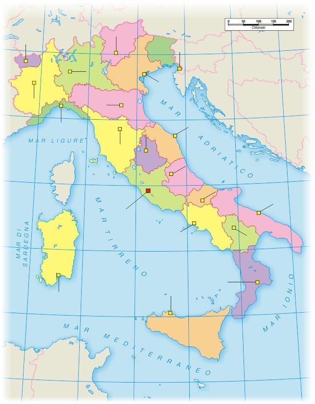 Regione Calabria Cartina Politica.Italia Carta Politica